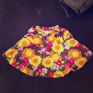 Gymboree corduroy sunflower skirt